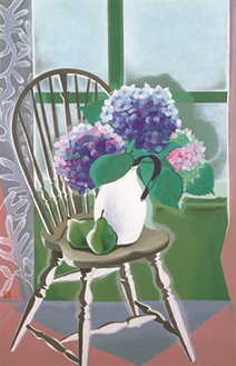 山口蓬春《榻上の花》昭和24年(1949) 東京国立近代美術館蔵〔前期のみ〕