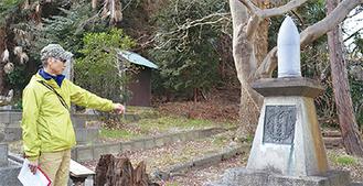 遷宮記念奉納の砲弾(長浦神社)