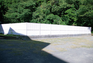 南郷中のブロック塀撤去