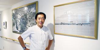 院内に展示されている作品と田中院長