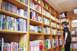 本棚も増設された