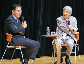 対談した田原さん(右)と浅尾さん