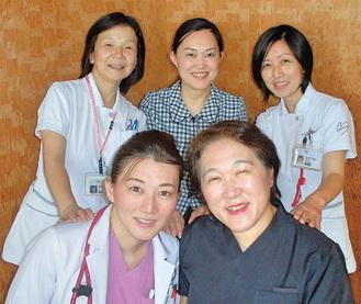 田中院長を始め女性医師・看護師が充実
