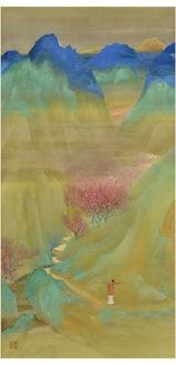 《武陵桃源》昭和2年(1927)山口蓬春記念館蔵