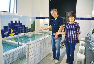 「毎日の健康づくりに」と話す唐澤夫妻