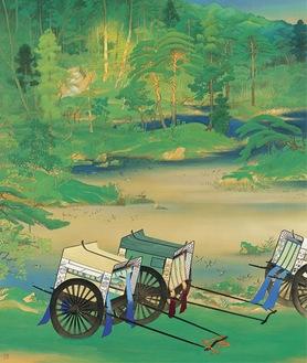 山口蓬春《緑庭》昭和2年(1927) 山口蓬春記念館蔵
