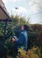 屋根塗装にドローン活用