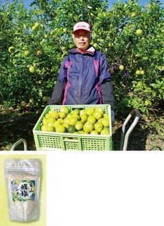 葉山レモンを作っている三留さん、新発売した「葉山焼塩レモン」