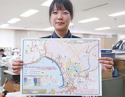 津波ハザードマップを改訂
