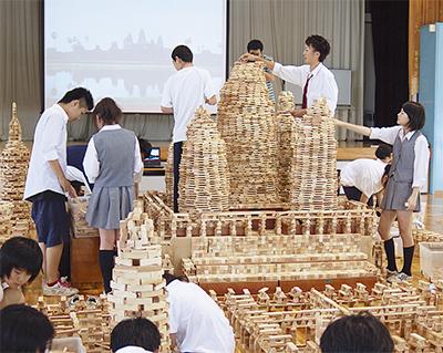 積み木3万個で世界遺産