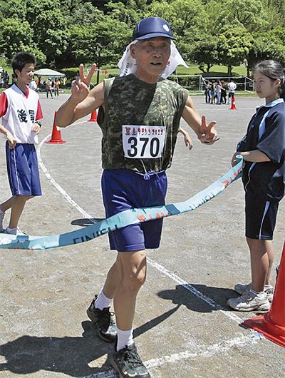 最年長ランナーは78歳  松谷さん