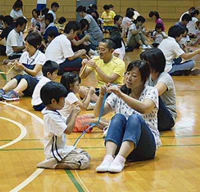 150組が親子遊び