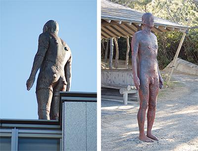 屋外に人体彫刻現る!?