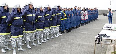 2市消防団が合同訓練