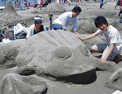 砂の芸術に挑戦