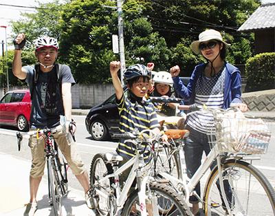 自転車でまち巡り