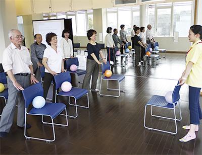 健康体操で「いきいき習慣」