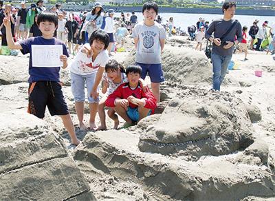 砂のアート作ろう