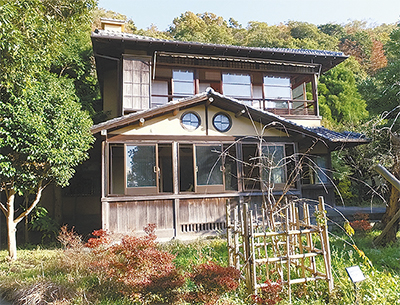 別荘庭園と芥川賞作家