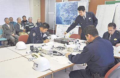 震災想定し防災訓練