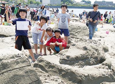 世界に一つの砂像づくり