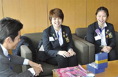 タイ大学生が町長表敬訪問