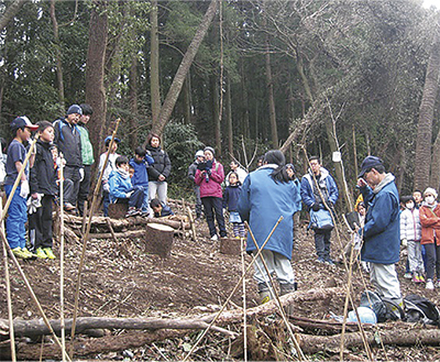 阿部倉山に桜100本植樹