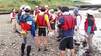 川で自然観察を行っている人やこれから行いたい人のための講座です
