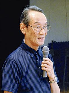 講演する安田副理事長