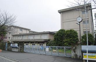 藤沢市の北東部・天神町にある旧藤沢北高校校舎