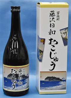 ラベルは江島神社提供の浮世絵を使用