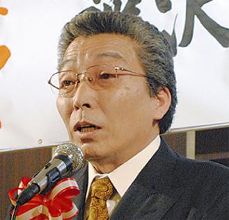 あいさつに立つ宮崎組合長