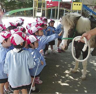 動物を抱いて笑顔の子どもたち