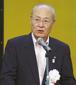 「今後も地域を暴力から守りたい」と田中会長
