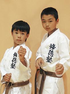 全国大会に出場する三川君(右)と黒川君