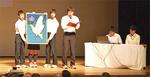 善行中学校による平和学習発表も