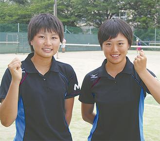 全国大会に出場する石井美有さん(左)と森瑞貴さん。「目標は日本一」と声をそろえる