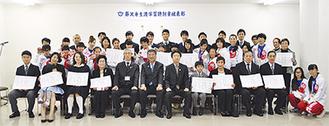 全国大会や作品展などで優れた成績を収めた受賞者たち
