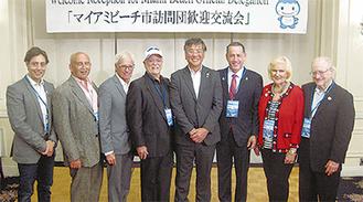 鈴木市長と、藤沢を訪れた訪問団