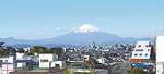 新施設の屋上から望む富士山