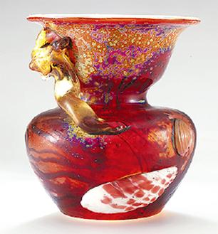 エミール・ガレ「貝殻と海藻文壺」1901年頃 岡田美術館蔵