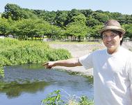 夏休みの思い出に川清掃