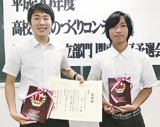 関東大会で優勝した立澤さん(左)と準優勝した長澤さん