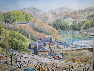 湯澤裕一「南信濃の風景」