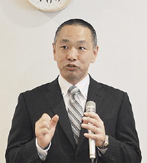 挨拶をした島田理事長