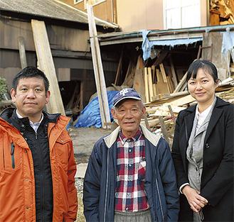 下田代表(左)と関係者