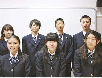 (左から)上段:宮川さん、佐藤さん、松村さん、村田さん      下段:臼井さん、山中さん、岡崎さん(いずれも1年生)