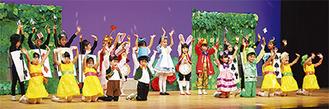 年長クラスの舞踊劇「ふしぎの国のアリス」