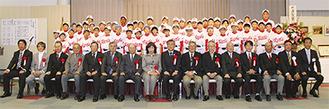 50周年記念式典に参加した六会レッズメンバーや来賓