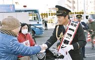 福田正博さん、一日署長